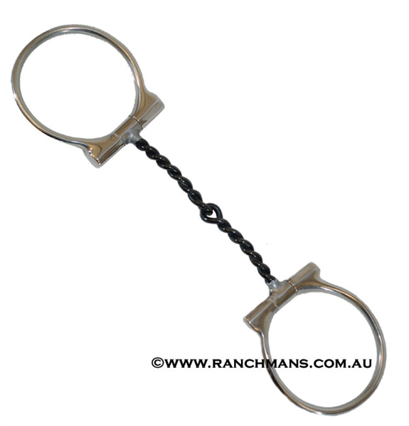 S.S. Twisted Wire Dee Ring Snaffle