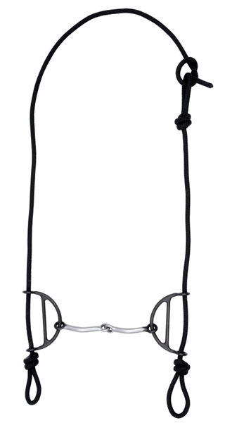 Black Steel Snaffle Sliding Gag Bridle