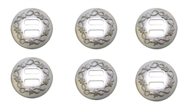 "Brushed Stainless Steel 1-1/2"" Barbwire Conchos"