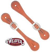 Weaver® Youth Russet Harness Leather Spur Straps