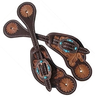 Showman® Ladies Vintage Tooled Spur Straps