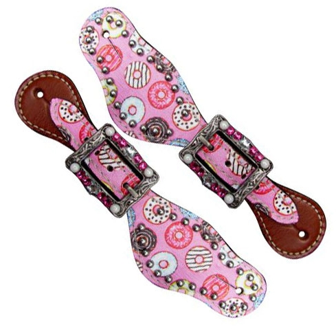 Showman® Youth Donut Print Spur Straps
