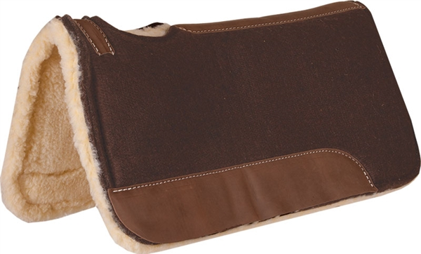 Mustang® Chocolate Brown Felt Contoured with Fleece Bottom Pad