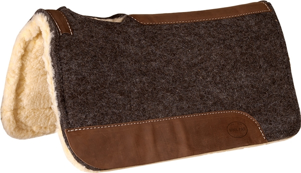 Mustang® Grey Wool Contoured Pad with Fleece Bottom