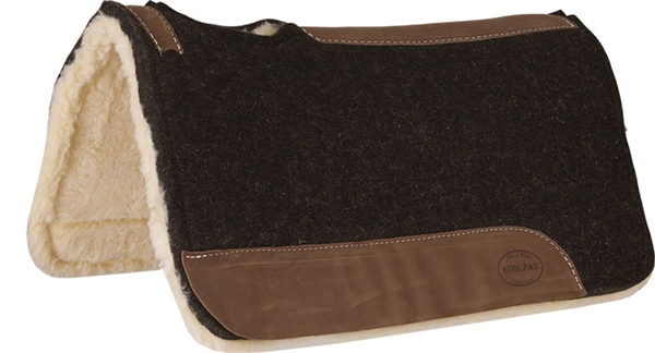 Mustang® Heavy Weight 100% Wool Contoured with Fleece Bottom Pad