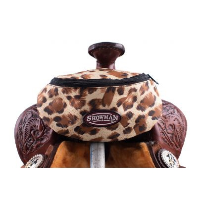Showman® Nylon Insulated Saddle Pouch - Leopard Print