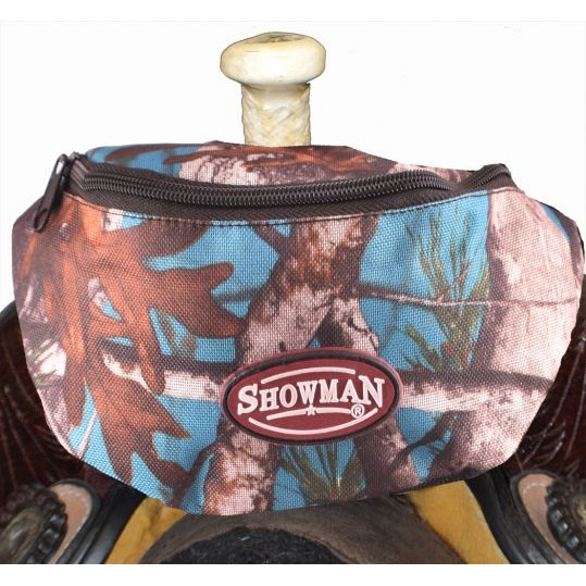Showman® Nylon Insulated Saddle Pouch - Teal Camo