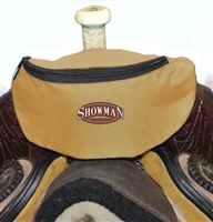 Showman® Nylon Insulated Saddle Pouch - Brown