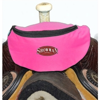 Showman® Nylon Insulated Saddle Pouch - Hot Pink