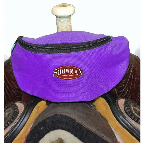 Showman® Nylon Insulated Saddle Pouch - Purple
