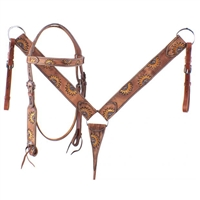 Showman® Hand Painted Sunflower Bridle & Breastcollar Set