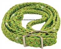 Ranchmans Confetti Glitter Lime Barrel Reins