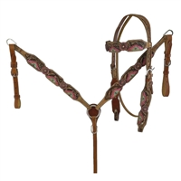 Showman® Hand Painted Aztec Bridle & Breastcollar Set