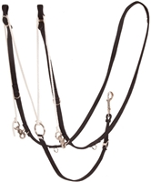 Mustang® Nylon German Martingale Rein Set