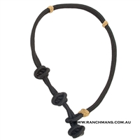 Ranchmans Ropers Neck Rope - Black