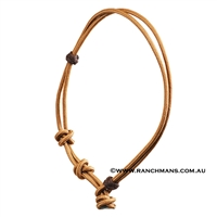 Ranchmans Ropers Neck Rope - Tan