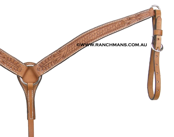 Ranchman's Contoured Acorn Breast Collar