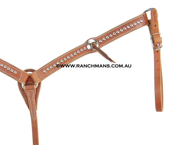 "Ranchman's SRS 1 1/4"" Scalloped Dot Breast Collar"