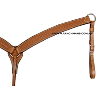 SRS Tooled Cutter Breastcollar - Rope Border