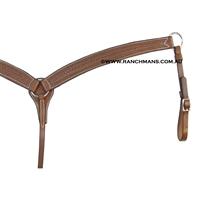 SRS Tooled Cutter Breastcollar - Running Rope Border