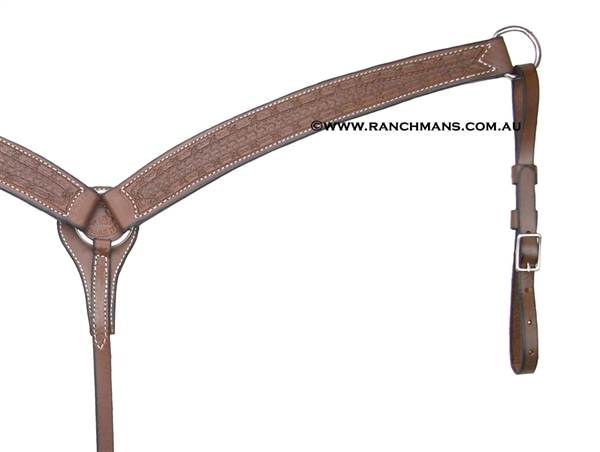 SRS Tooled Cutter Breastcollar - Barb Wire Border