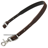 Martin Saddlery® Chocolate Leather Breast Collar Wither Strap