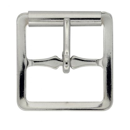 "1/2"" (13mm) Nickel Plated Skate Buckle w/Roller"