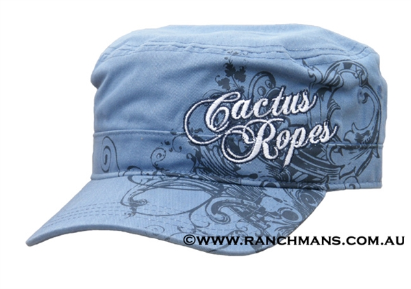 Cactus Ropes® Ladies Blue Rail Road Cap