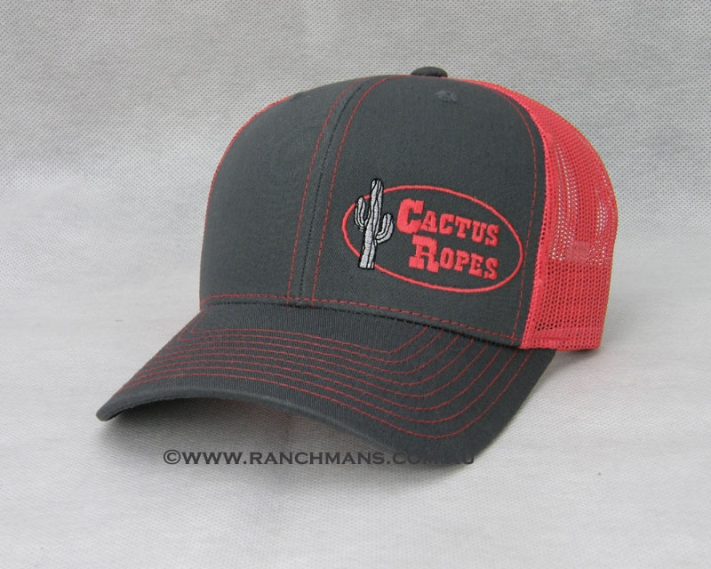 Cactus Ropes 174 Charcoal Amp Red Snapback Cap
