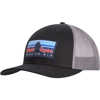 Classic Equine® Rubber Patch Logo Cap - Black & Charcoal