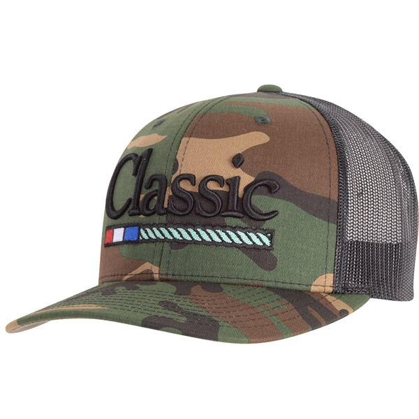 Classic Ropes® Large Embroidered Logo Camo Cap