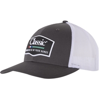 Classic Ropes® Charcoal Rubber Logo Cap