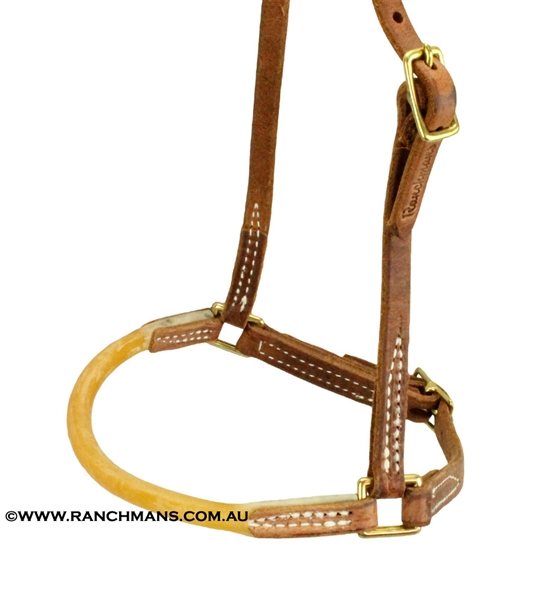 Ranchman's Leather Caveson w/Surgical Tubing