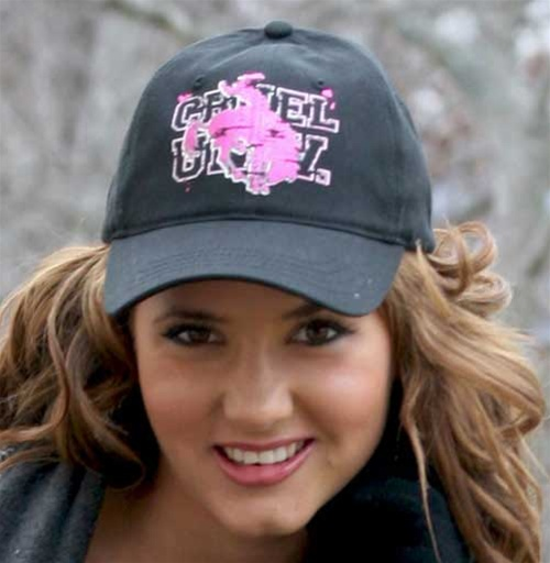 Ladies Cruel Girl® Black Bucking Horse Cap