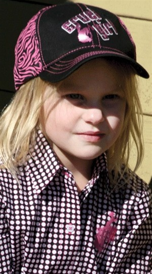 Girls Cruel Girl® Pink/Black Zebra Print Cap