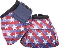 Classic Equine® DL No Turn Bell Boots - Stars & Stripes