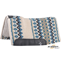 "Classic Equine® ESP™ Extra Sensory Protection Contoured Wool Top Saddle Pad 32"" x 34"""
