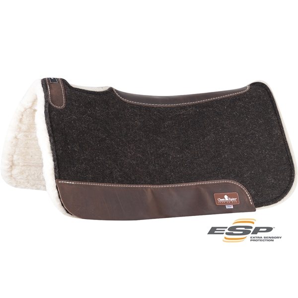 "Classic Equine® ESP Felt/Fleece Saddle Pad 31"" x 32"""