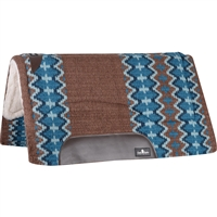 "Classic Equine® Sensorflex® Saddle Pad 32"" x 34"" - Brown & Navy"