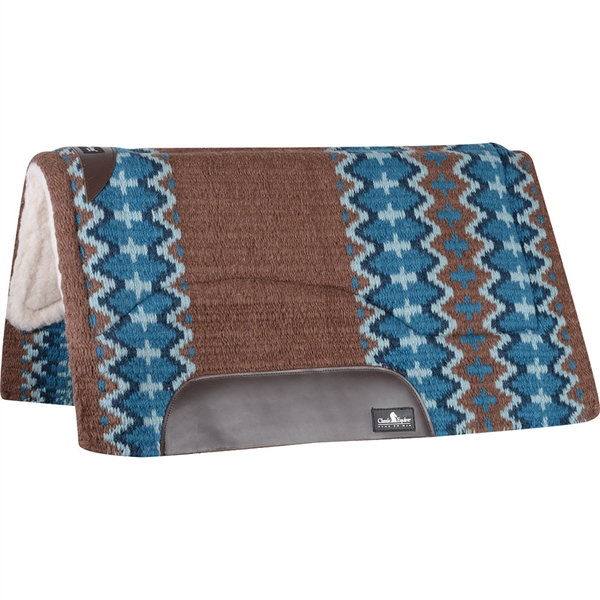 "Classic Equine® Sensorflex® Saddle Pad 32"" x 34""- Brown/Navy"
