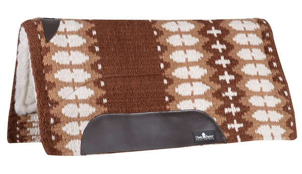 "Classic Equine® Sensorflex® Saddle Pad 34"" x 38"" - Brown/Cream"
