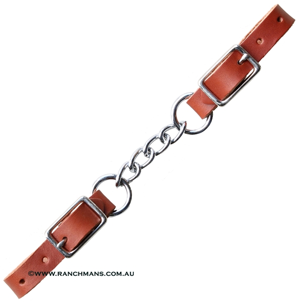 Ranchman's Leather Single Curb Chain