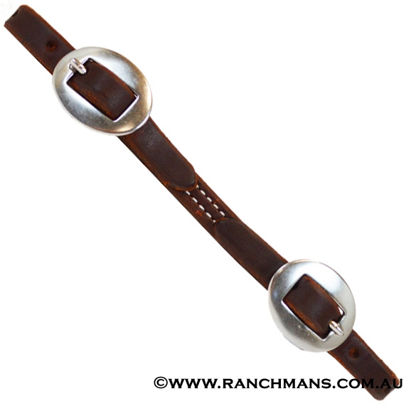 Ranchman's Premium Harness Leather Curb Strap