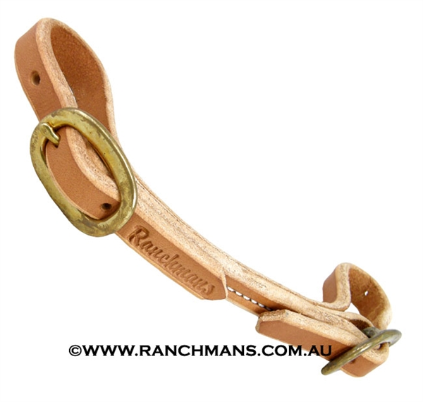 Ranchman's Rolled & Sewn Harness Leather Curb Strap
