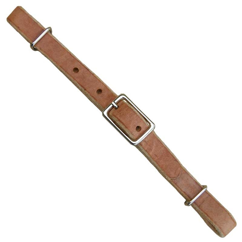 Ranchman's Russet Harness Leather Curb Strap