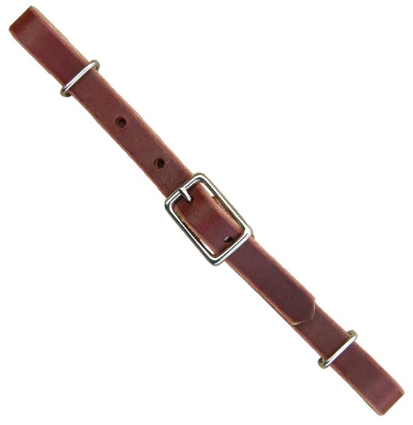 Ranchman's Burgundy Latigo Leather Curb Strap