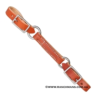 Ranchman's 3 Piece Harness Leather Curb Strap