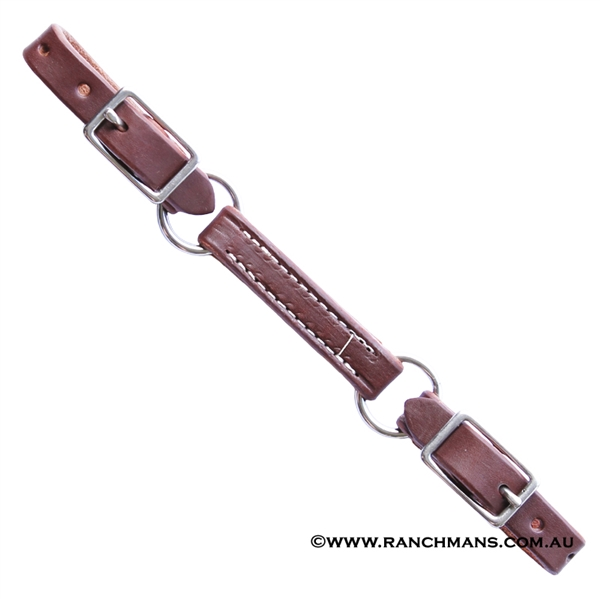 Ranchmans Oiled 3 Piece Harness Leather Curb Strap