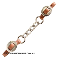 Ranchman's Big Link Curb Chain-Harness Leather