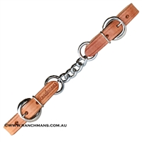 Ranchman's Leather Single Curb Chain-Harness